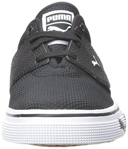 PUMA Mens EL Ace Textured Fashion Sneakers Black/White IhBllKMS