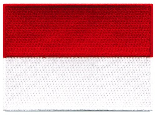 Indonesia Flag Embroidered Patch Indonesian Iron-On National Emblem