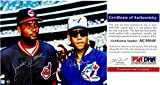 Sandy Alomar and Roberto Alomar Signed - Autographed Cleveland Indians - Toronto Blue Jays 8x10 inch Photo - PSA/DNA Certificate of Authenticity (COA)