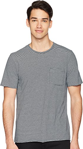 Vince Men's Feeder Stripe Short Sleeve Tee, New Coastal, X-Large (Vince Jersey Tee Pima)