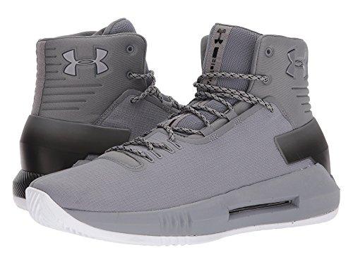 (アンダーアーマー) UNDER ARMOUR メンズバスケットボールシューズ?靴 UA Drive 4 Zinc Gray/Black/Zinc Gray 12.5 (30.5cm) D - Medium