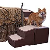 Pet Gear Easy Step Bed Stair for Cats/Dogs with Storage Compartment, Removable Washable Carpet Treads, Space-Saving Multi-Position Design