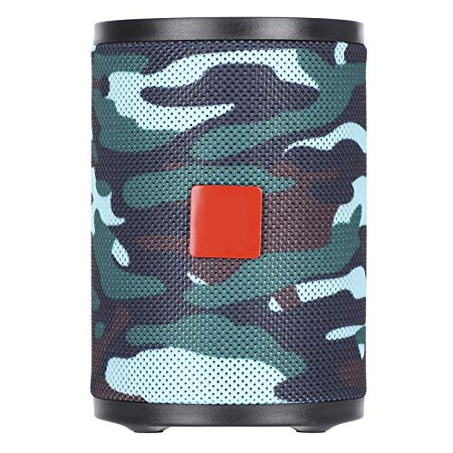 01 Decorative Cylindrical Speaker, Speaker, Portable for Outdoor Home(Camouflage)