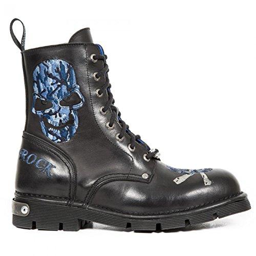 New Rock Boots M.newmili85-c3 Gotico Hardrock Punk Unisex Stiefel Schwarz