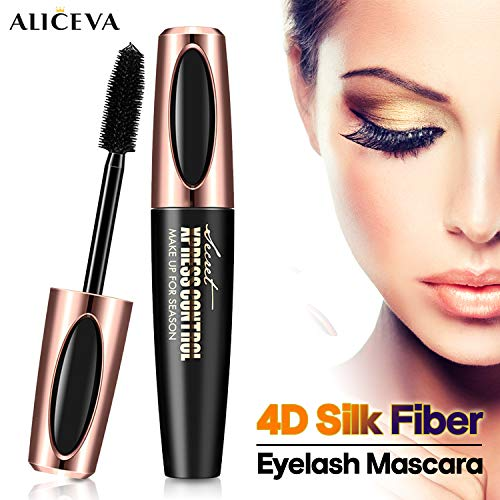 Aliceva 4D Silk Fiber Lash Mascara - Premium Thickening and Lengthening Waterproof Mascara for Long-Lasting, Charming Eye Makeup