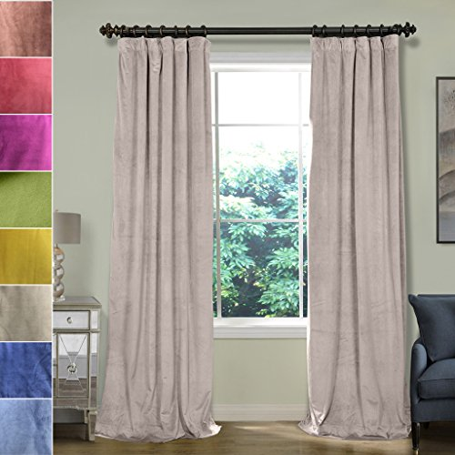 ChadMade 100W x 120L Inch Soft Premium Velvet Curtain Dra...