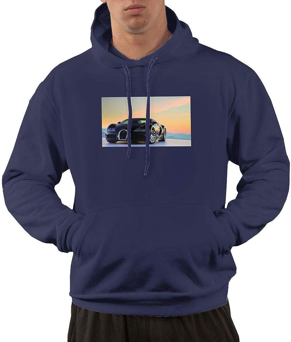 STDONE Mans Casual Bugatti-Car Sweatshirts Black