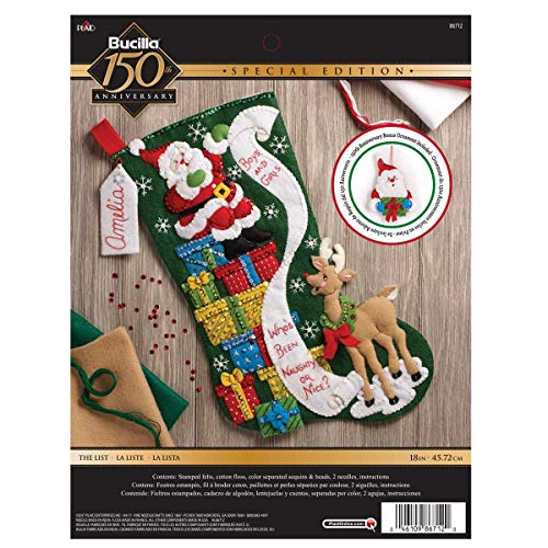Bucilla 86712 The The List Stocking Kit ()