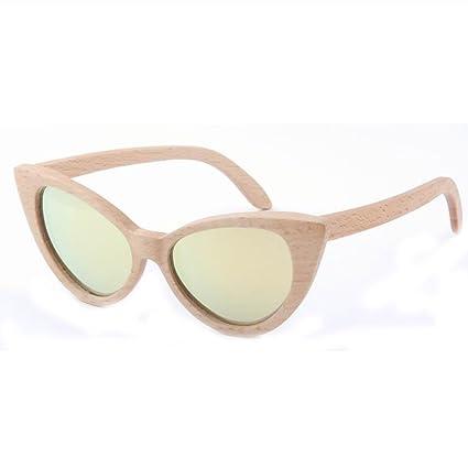 LX-LSX Gafas de Sol de bambú polarizado de Alta Gama Ojos de Gato Gafas