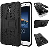 Cassiey --Lenovo-Zukz1-D2-Black Tough Military Grade Armor Defender Series Dual Protection Layer Tpu + Pc Case Cover For Lenovo Zuk Z1 - Black