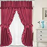 Double Swag Shower Curtain Sweet Home Collection 100% PEVA 70