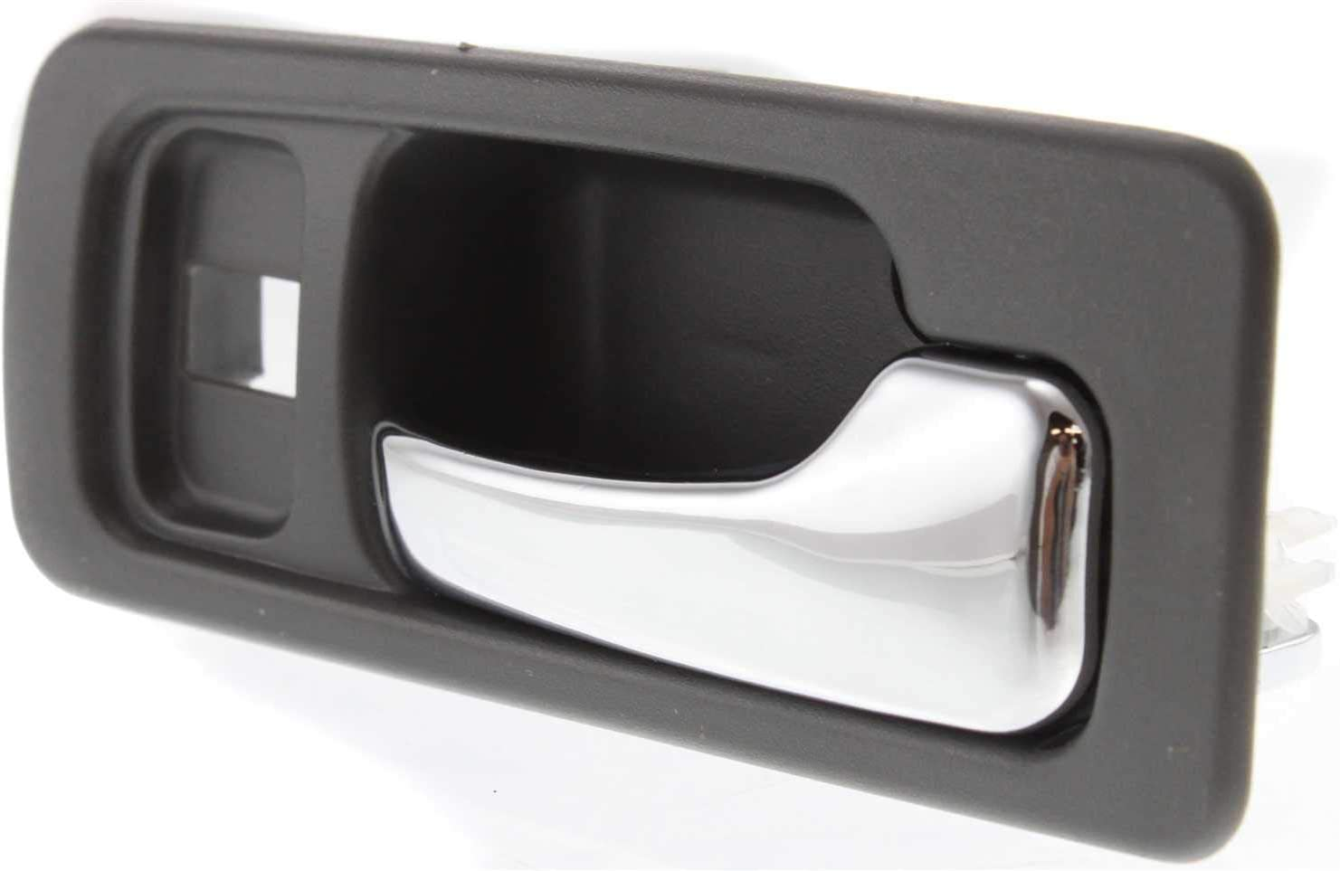Front Interior Door Handle Set compatible with Honda Accord 90-93 Right and Left Included Inside Chrome Lever+Gray Housing W//Lock Hole