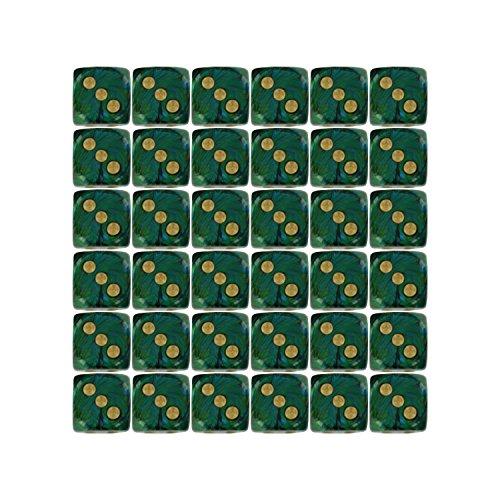 scarab d6 jade gold dice