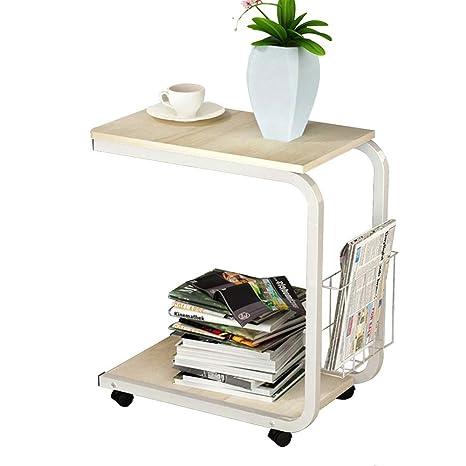 Amazon.com: HANSHAN mesa auxiliar de mesa, mesa de esquina ...