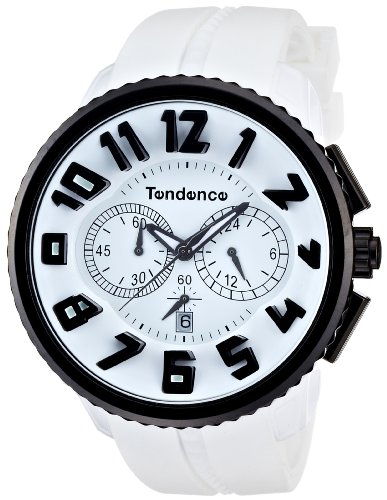 Tendence Gulliver Round Black & White Men's Quartz Watch 02046017