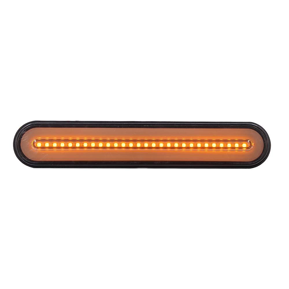Voupuoda 10-30 V 100 LED Remolque cami/ón Luz de Freno Ne/ón Impermeable 3 en 1 Anillo de halo Cola Luz de Freno Luz de se/ñal de Giro