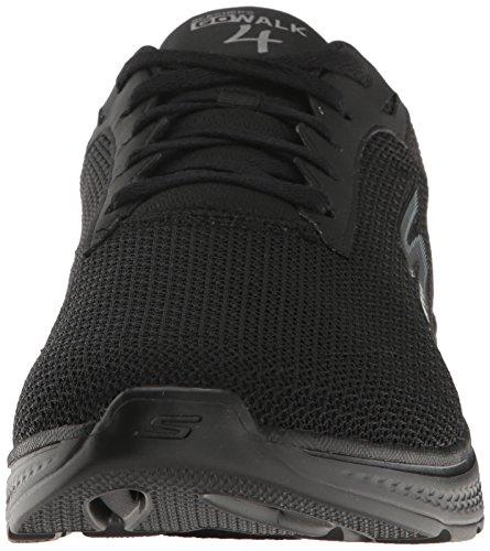 Skechers Performance Herren Go Walk 4-Noble Sneaker Schwarzes Netz