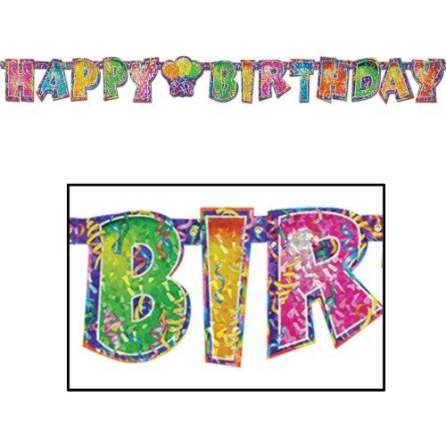 Beistle 50357 Prismatic Birthday Streamer