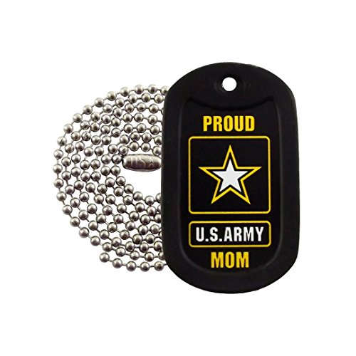 Army Mom Pendant (Military Dog Tags - Proud U.S. Army Mom Dog Tag Necklace - Tag-Z)