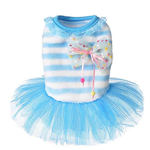 FTXJ Tutu Lace Dress Princess Costume Apparel for Small Dog Girls Boys Winter Warm Sweater Coat Puppy Costume for Chihuahua/Yorkie / Keji/Bago ...