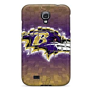 Perfect Cell-phone Hard Covers For Samsung Galaxy S4 (ERK473SaKW) Allow Personal Design Colorful Baltimore Ravens Image