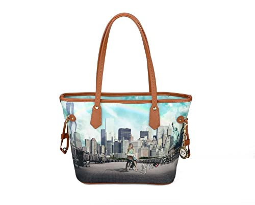 Borsa Y Not stampa New york big apple misura media 336  Amazon.it  Scarpe e  borse 6933e7aea57