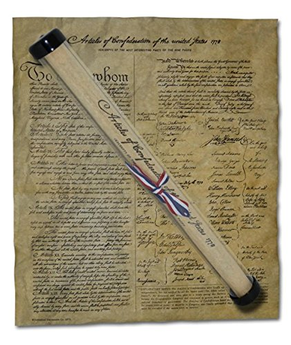 Articles of Confederation of the United States, 1778. 14 x 16 Replica on Genuine Antiqued Parchment