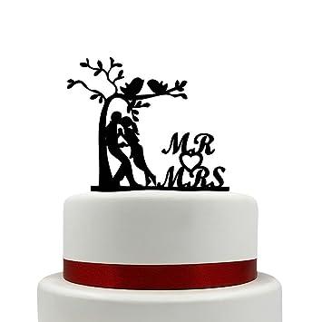 Herr Und Frau Hochzeit Kuchen Topper Bich Baum Mit Kuss Vogel Kuchen