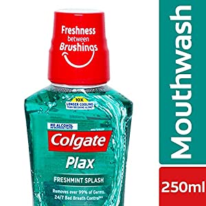 Colgate Plax Antibacterial Mouthwash, 24/7 Fresh Breath – 250ml, (Fresh Mint)