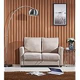 US Pride Furniture S5088 Contemporary Fabric Storage Loveseat, Beige