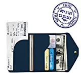 Travel Passport Holder - Multi-purpose Leather money Pack Pockets,Wallet Blue - by Not Just A Gadget