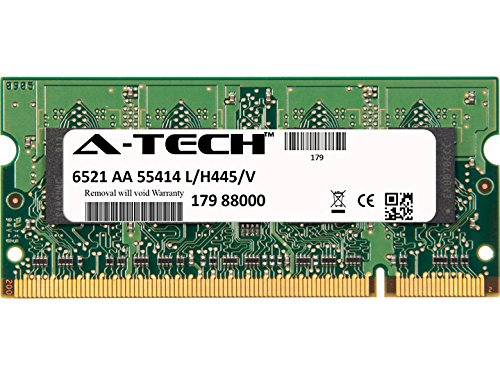 A-Tech 1GB STICK For HP-Compaq Presario Notebook Series V4435NR (DDR2) V4440US (DDR2) V4450EA V5000 (DDR2) V5000T (CTO) V5100TU V5102TU V5150EA V5155EA. SO-DIMM DDR2 NON-ECC PC2-5300 667MHz RAM Memory