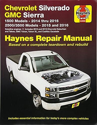 chevrolet silverado gmc 1500 pick ups 14 16 2500 3500 pick ups rh amazon com 2003 chevy 2500hd owners manual 2005 chevy 2500 owners manual
