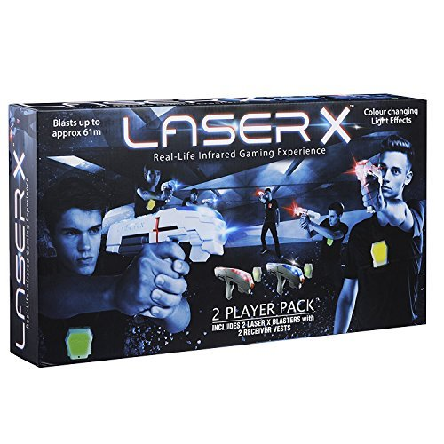 Laser X 88016 Two Player Laser Gaming Set, 2 Units for 4 Players