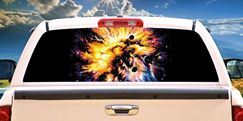 Leo Galaxy Rear Window Graphic | HD Truck & Car Back Window Graphic SignMission