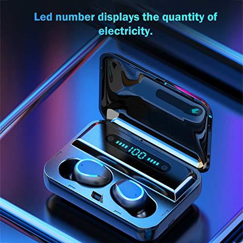 Kkmoon F9 5 Mini Earbuds BT 5.0 8D HiFi CVC8.0 Noise Reduction Invisible In Ear Earphones TWS Sport IPX7 Waterproof Handsfree Dual Headphones with Charging Case