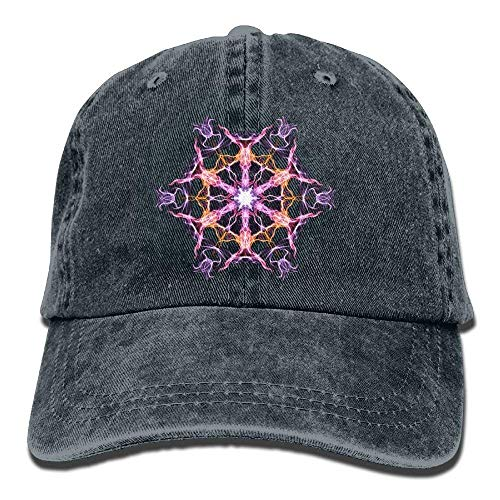Adjustable Mandala Washed Gorras béisbol Denim Geometry Hat Womens Hats Baseball hanbaozhou wYgUAqq