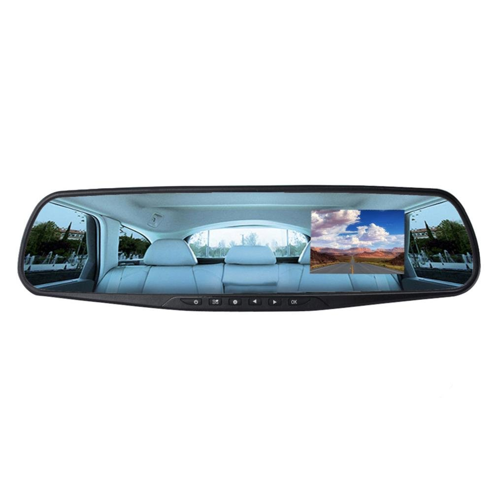 Vovotrade 2.8' Full HD 1080P Auto Coche DVR Car Rear View Vista trasera Espejos traseros Cá mara Grabadora de ví deo Visió n nocturna Dash Cam G-Sensor Camera Recorder Vovotrade0722
