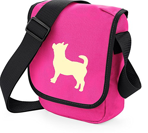 Reporter Choice Colours Shoulder Gift Pink Of Dog Cream Chihuahua On Silhouette Chi Bag x4YRq8Eng