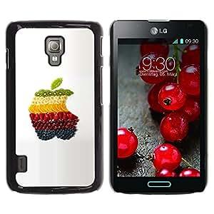 TopCaseStore / la caja del caucho duro de la cubierta de protección de la piel - Fruit Macro Apple Fruits - LG Optimus L7 II P710 / L7X P714