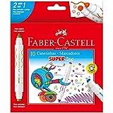 Canetinha Hidrográfica Super Duo 10 Cores, Faber-Castell