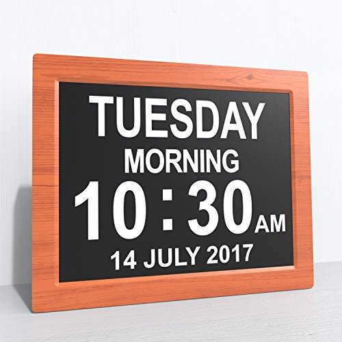 -[ [Newest Version] Day Clock - Extra Large Impaired Vision Digital Clock with Battery Backup &