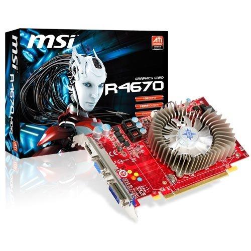 (MSI ATI Radeon HD4670 1 GB DDR3 VGA/DVI/HDMI PCI-Express Video Card R4670-MD1G)
