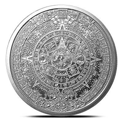 1 oz .999 Aztec Calendar Stone, Eagle Warrior Emperor of Tenochtitlan New: Industrial & Scientific