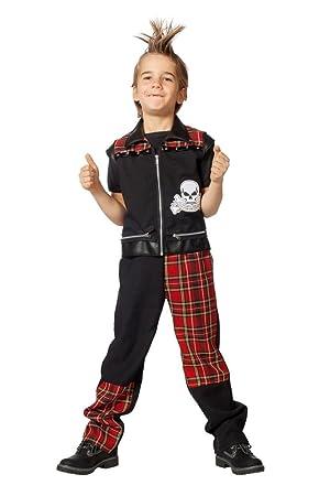 Wilbers Kinder Kostum Punk Junge Punker Karneval Fasching Gr 128