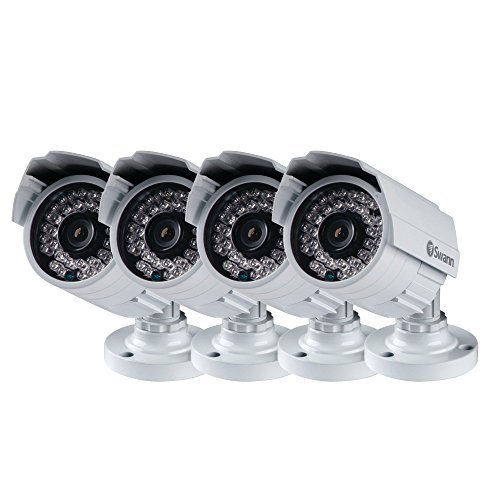Swann SWPRO-842CAM-US-4PK 900TVL High-Resolution Day/Night Security Camera 85ft / 25m View by Swann