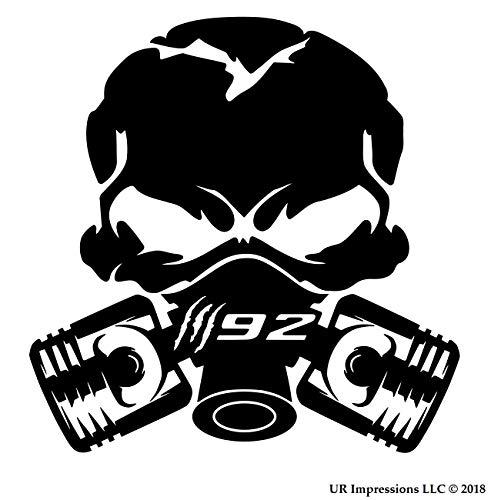 UR Impressions Blk Claw Marks 392 Piston Gas Mask Skull Decal Vinyl Sticker Graphics for Cars Trucks SUV Vans Walls Windows Laptop|Black|5.5 Inch|UR688-B ()