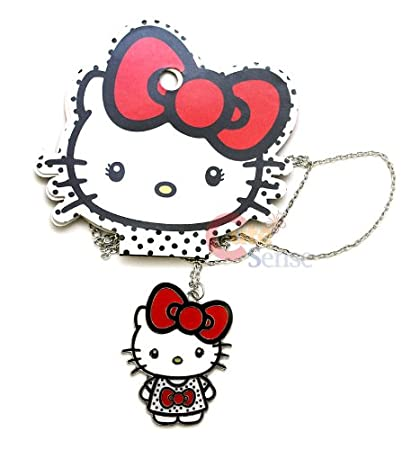3e2aeeae2 Amazon.com: Hello Kitty Big Red Bow Outline Logo Necklace Jewelry:  Everything Else