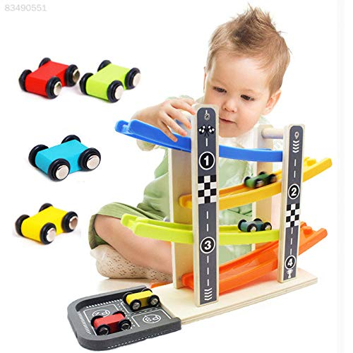 Track Run Details about  /New Wooden Toys Click Clack Race track Car Run Marble Run