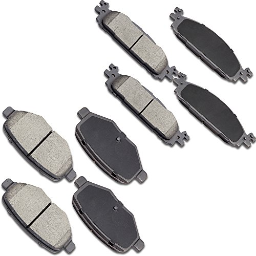 OCPTY Ceramic Brakes Pads, Quick Stop Front Rear Brake Pad fit for 2011-2016 Ford Explorer,2009-2014 Ford Flex,2010-2012 Ford Taurus,2009-2012 Lincoln MKS,2010-2014 Lincoln MKT